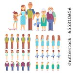 Big Family Portrait Vector Set...