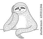 cute hand drawn cartoon line... | Shutterstock .eps vector #655311346