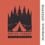camping park logo. native...   Shutterstock .eps vector #655319536