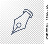 ink pen icon. | Shutterstock .eps vector #655322122