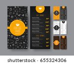 template of the coffee menu for ...   Shutterstock .eps vector #655324306