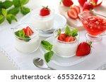 healthy yogurt with fresh... | Shutterstock . vector #655326712