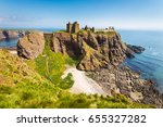 dunnottar castle with clear sky ... | Shutterstock . vector #655327282
