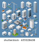industrial  isometric  set... | Shutterstock . vector #655328638