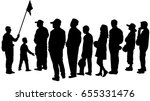vector silhouette of tour guide ... | Shutterstock .eps vector #655331476
