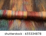 close up of a rolag made of... | Shutterstock . vector #655334878