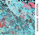 complex pixel pattern... | Shutterstock .eps vector #655347436