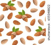 seamless pattern with almond.... | Shutterstock .eps vector #655348822