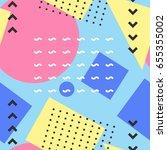 seamless geometric pattern in... | Shutterstock .eps vector #655355002