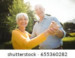 portrait of happy senior couple ... | Shutterstock . vector #655360282
