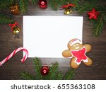 christmas cookies and... | Shutterstock . vector #655363108