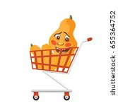 shopping trolley full of... | Shutterstock .eps vector #655364752