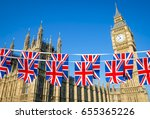 Two Rows Of Union Jack Bunting...