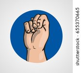 hands gesture or finger... | Shutterstock .eps vector #655370665