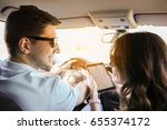travel. couple is traveling in... | Shutterstock . vector #655374172