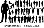 vector  isolated  silhouette of ... | Shutterstock .eps vector #655382266