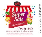 candy sale poster | Shutterstock .eps vector #655384696