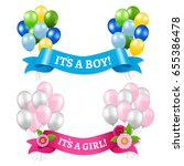 its a boy and girl  | Shutterstock .eps vector #655386478