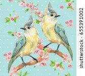 cute seamless texture with... | Shutterstock . vector #655391002