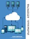 cloud computing concept design. ... | Shutterstock .eps vector #655394746