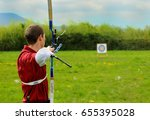 archery in the preparation phase | Shutterstock . vector #655395028