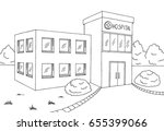 hospital building graphic black ... | Shutterstock .eps vector #655399066