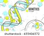 dna replication  genetic... | Shutterstock .eps vector #655406572