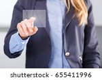 Small photo of Advanced user of high modern technology using achievement of science