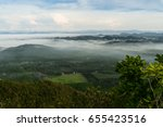 fog covering the mountain... | Shutterstock . vector #655423516