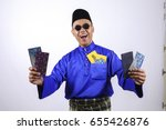 man in traditional clothing... | Shutterstock . vector #655426876