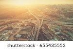 aerial drone flight photo of... | Shutterstock . vector #655435552