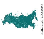 map of russia | Shutterstock .eps vector #655444816