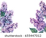 greeting card  watercolor... | Shutterstock . vector #655447012