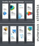 abstract business vector set of ... | Shutterstock .eps vector #655449616