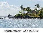 mauritius beach. tropical... | Shutterstock . vector #655450012