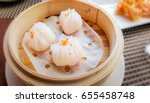 har gow a traditional shrimp... | Shutterstock . vector #655458748
