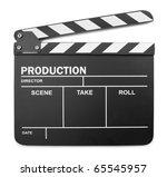 clapper board on white... | Shutterstock . vector #65545957