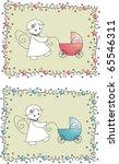 baby shower arrival card for...   Shutterstock .eps vector #65546311