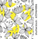 floral vector seamless pattern... | Shutterstock .eps vector #655464886