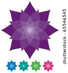 vector abstract flower | Shutterstock .eps vector #65546545