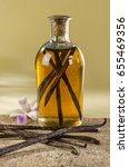vanilla essence exotic and... | Shutterstock . vector #655469356