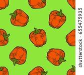 paprika red pepper spice vector ... | Shutterstock .eps vector #655475935