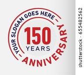 150 years anniversary logo...   Shutterstock .eps vector #655482562