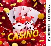Casino Dice Banner Signboard O...