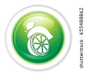 green lemon icon | Shutterstock .eps vector #655488862