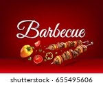 """barbecue"" paper hand lettering ... 