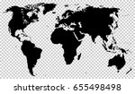 black detailed world map... | Shutterstock .eps vector #655498498
