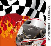 racing flag and helmet with... | Shutterstock .eps vector #65550103