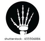 x ray hand icon  symbol  vector ...   Shutterstock .eps vector #655506886
