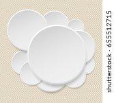 round offer paper sticker or... | Shutterstock .eps vector #655512715